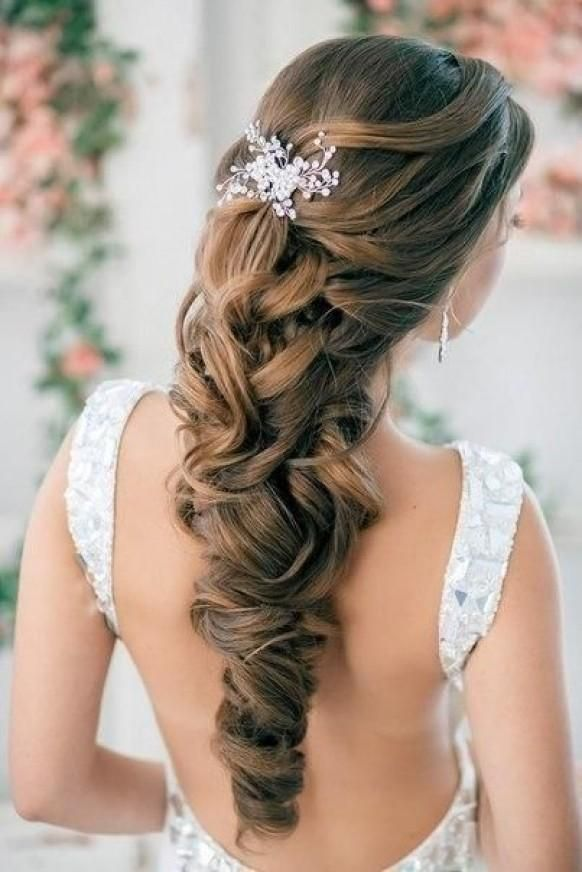 Best 25 Half Up Wedding Hair Ideas On Pinterest Awesome Collection Of Bridesmaid Hairstyles Long