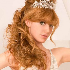 Wedding Hairstyles Half Up Half Down With Tiara