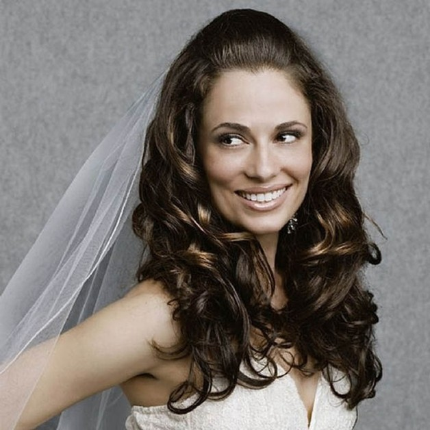 Wedding Hairstyles Long Hair Down With Veil