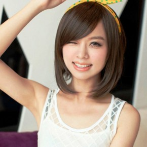 2014 Cute Short Asymmetrical Bob Haircut For Asian Women