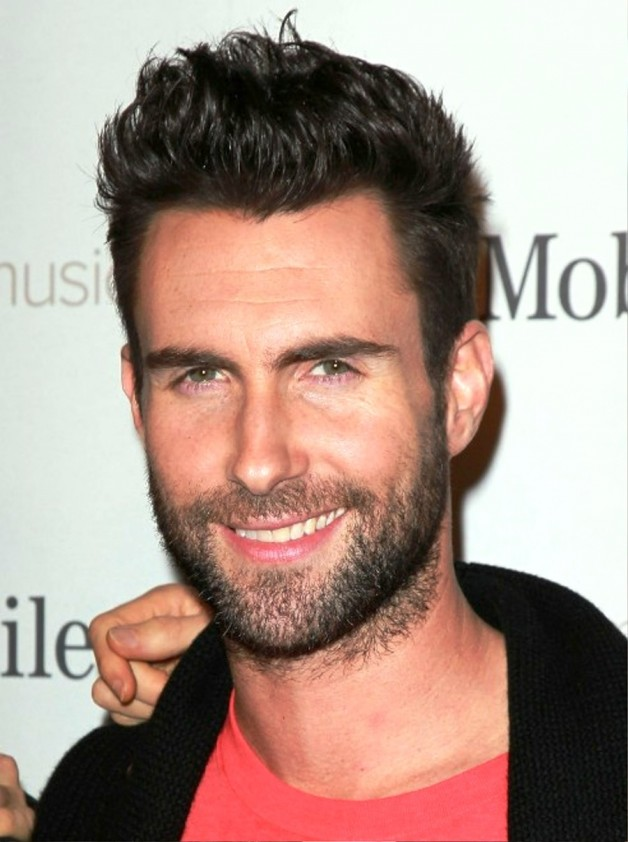 Adam Levine Short Spiked Hairstyle