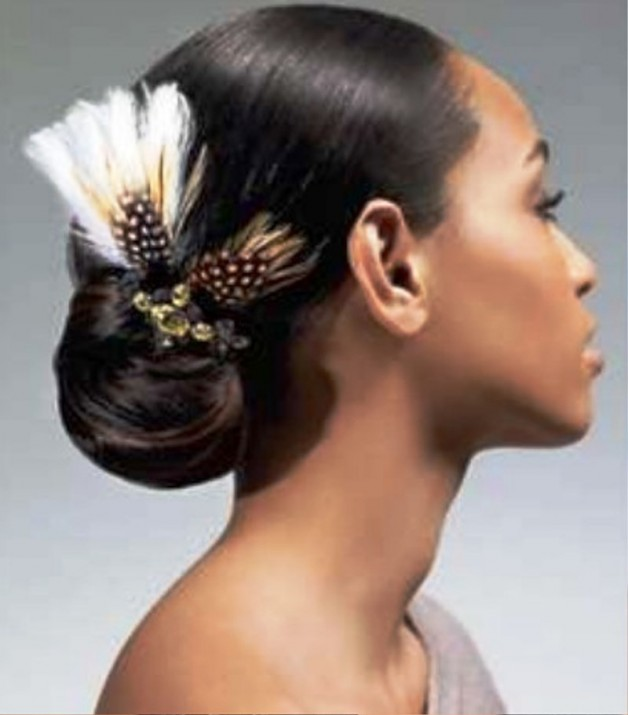 African American Sleek Wedding Hairstyles