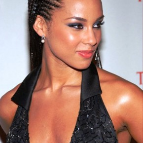 Alicia Keys Cornrow Braided Hairstyle1