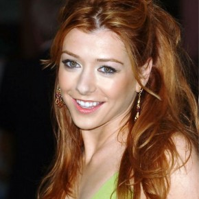 Alyson Hannigan Messy Half Up Half Down Hairstyle