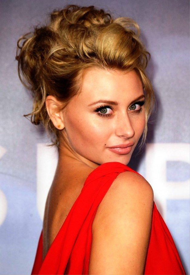 Alyson Michalka Sexy Messy Loose Updo Hairstyle