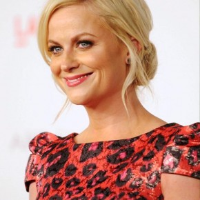 Amy Poehler Cute Blonde Bun Updo For Wedding