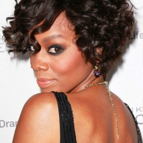 Anika Noni Rose Short Curly Bob Hairstyle