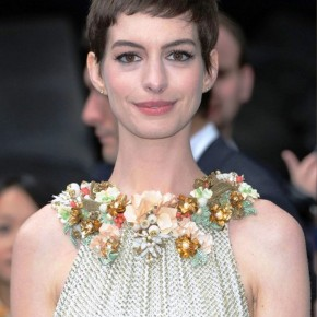 Anne Hathaway Casual Short Straight Pixie Haircut
