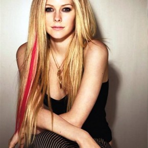Avril Lavigne Long Straight Hairstyles