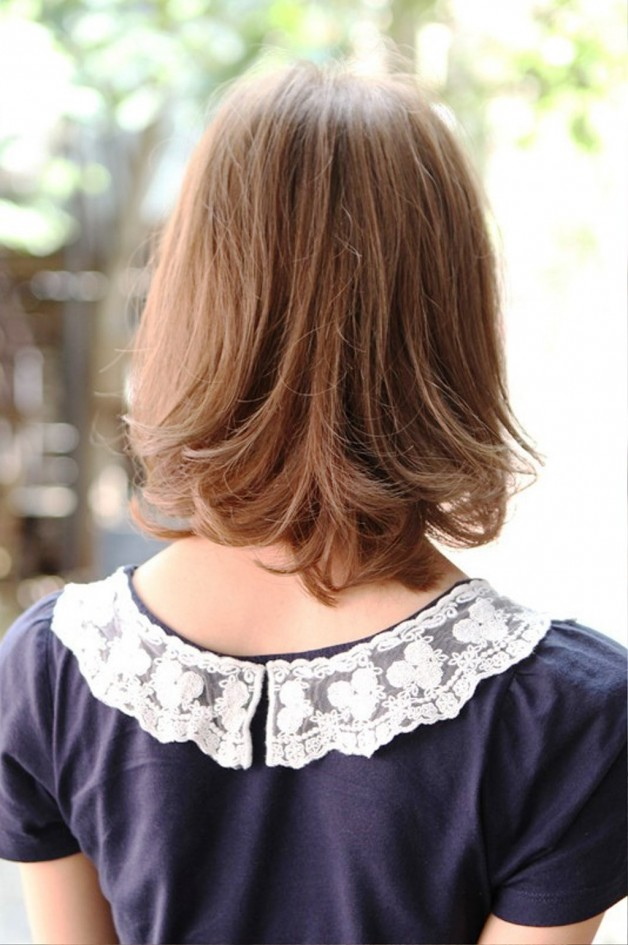 Back View Of Cute Japanese Bob Hairstyle