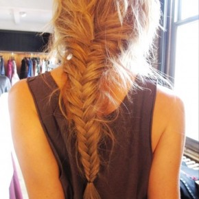 Back View Of Fishtail Braid Hairstyle