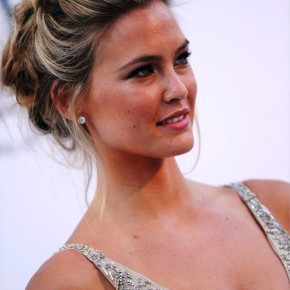 Bar Refaeli Loose Textured Messy Updo