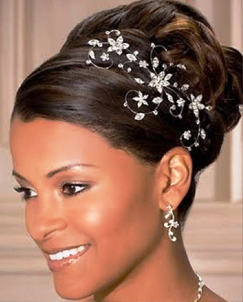 African American Updo Wedding Hairstyles: Pictures Of Beautiful African American Wedding Updo Hairstyles