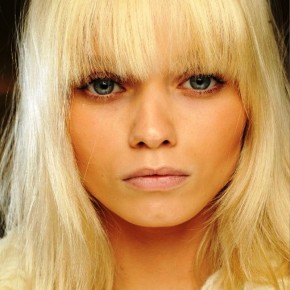 Beautiful Blonde Hair With Blunt Bangs
