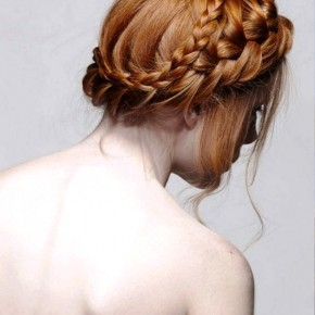 Beautiful Milkmaid Braids