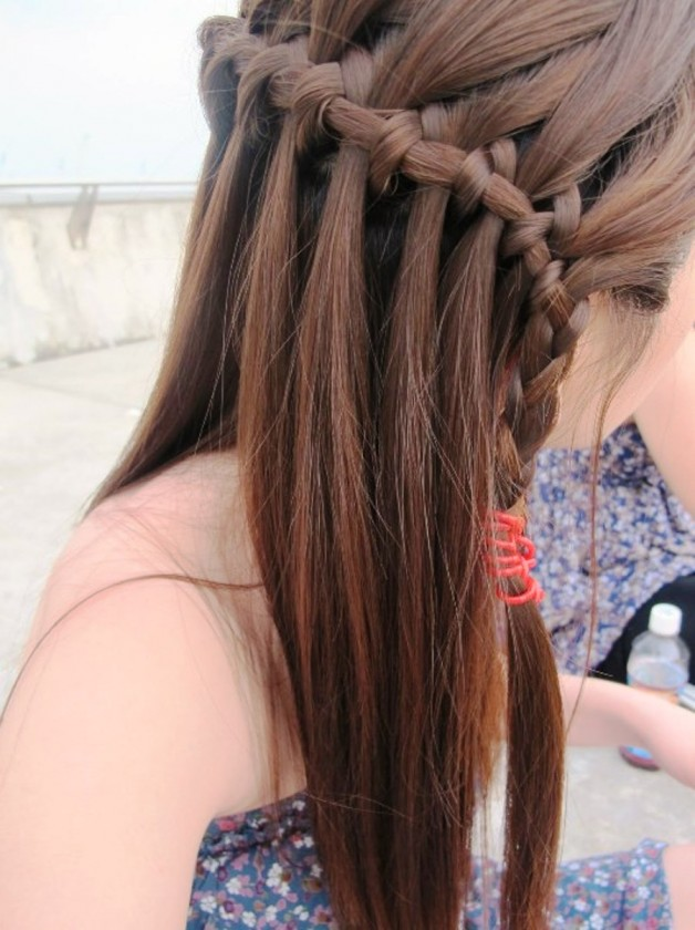 Beautiful Waterfall Braid Hairstyles