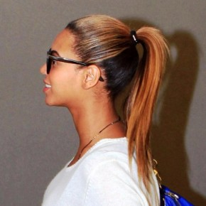 Beyonce Knowles High Ponytail Hairstyle