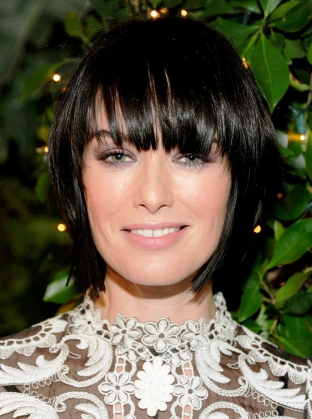 Black Bob Hairstyle With Blunt Bangs