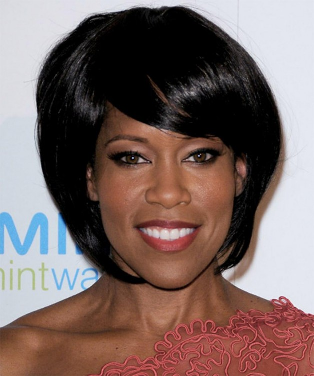 Black Bob Hairstyles with Side Bangs