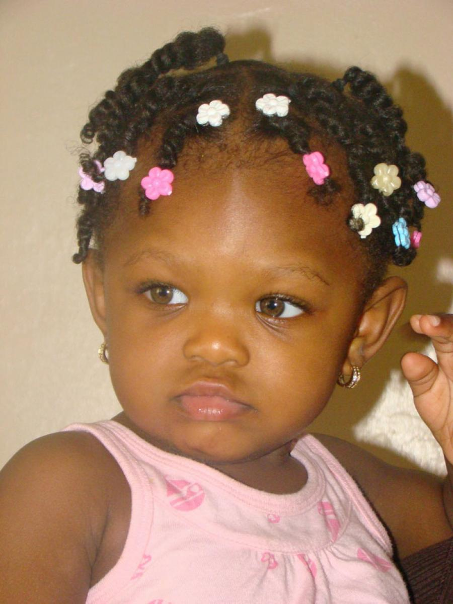 Pictures of Black Children Hairstyles with Beads