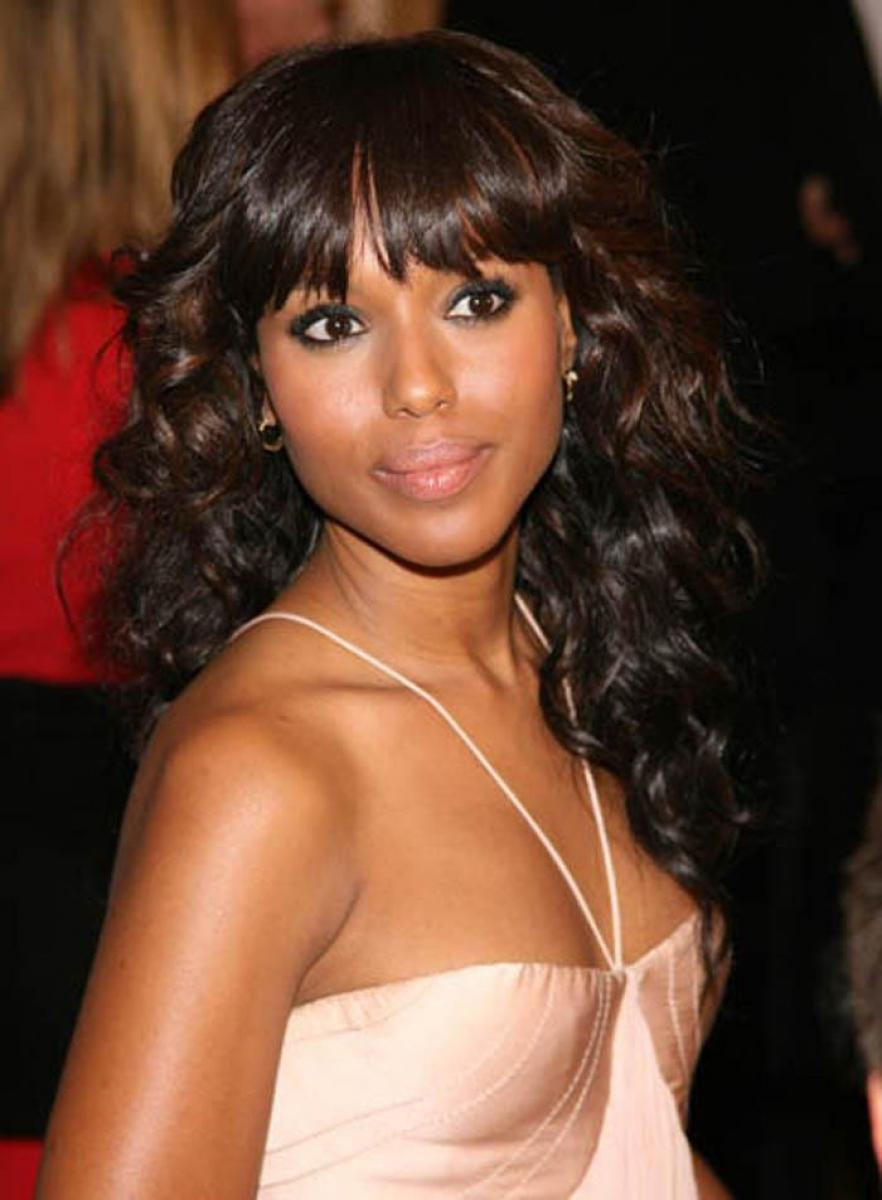 Enjoyable Pictures Of Black Curly Hairstyles With Bangs Hairstyles For Women Draintrainus