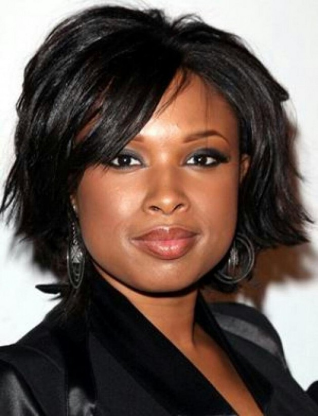 Black Hairstyle for Round Faces 2013