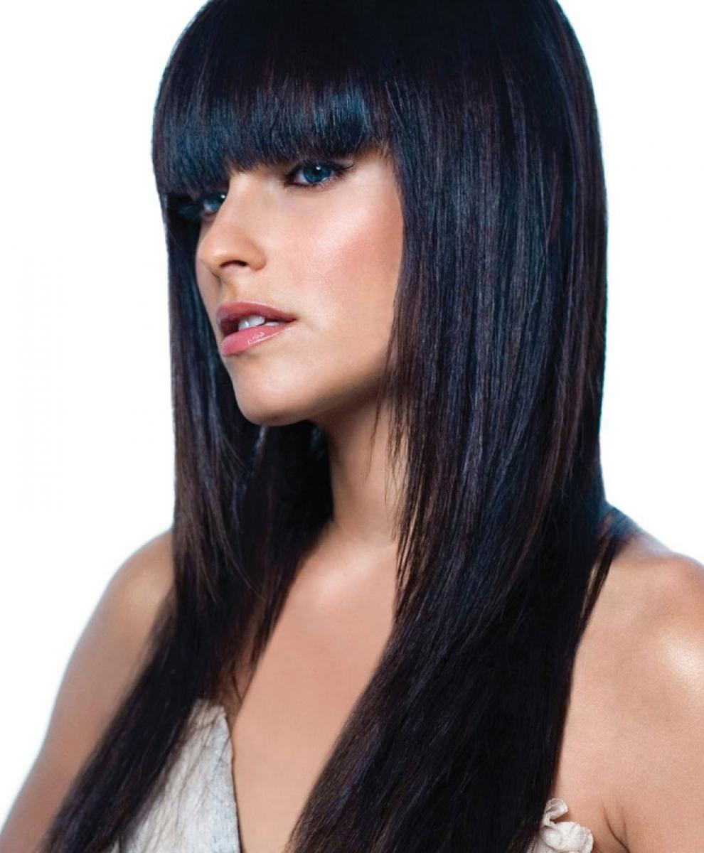Pictures Of Black Hairstyles For Long Hair With Bangs