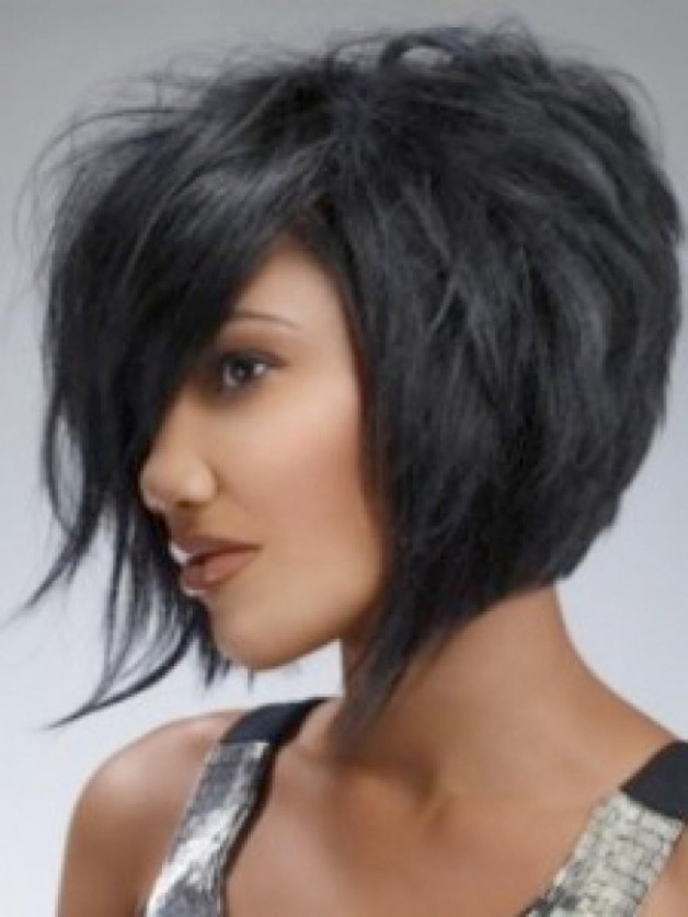 Black Layered Bob Hairstyles