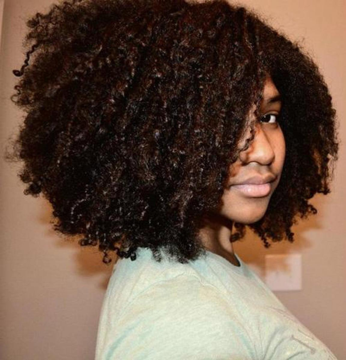 Pictures of Black Natural Curly Hairstyles for Medium Length Hair
