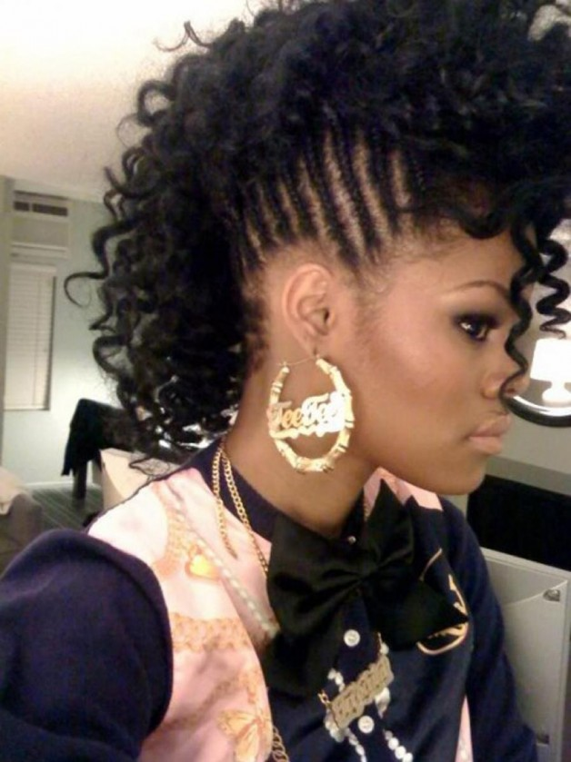 Black Natural Curly Mohawk Hairstyles