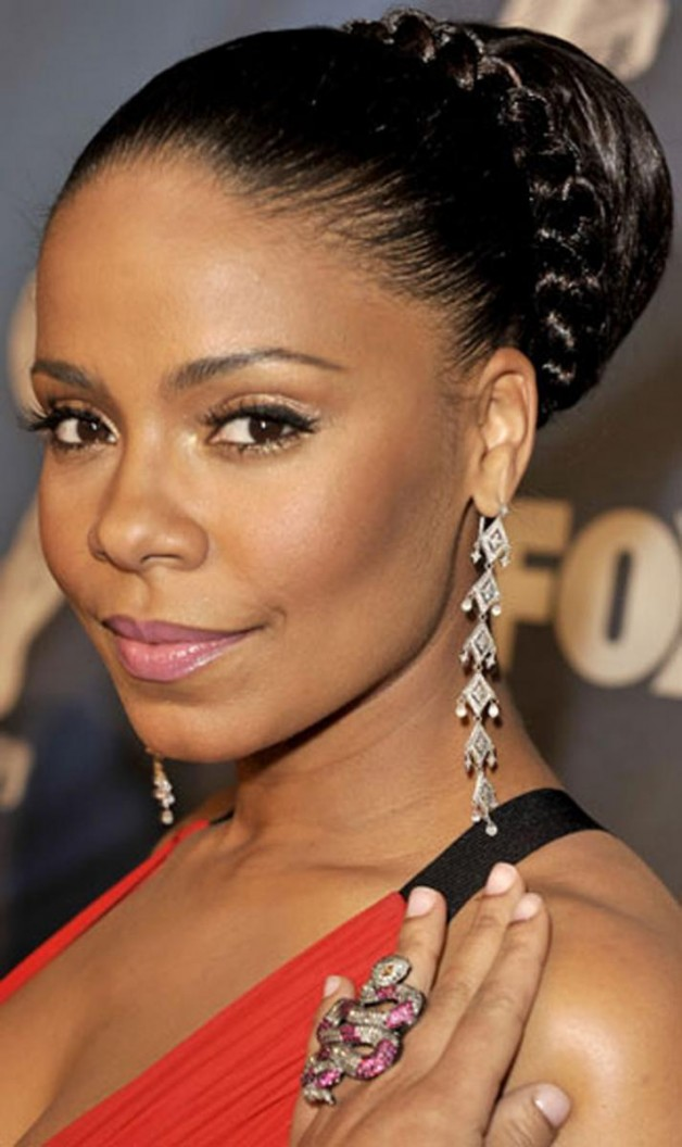 Black Updo Hairstyles with Braids