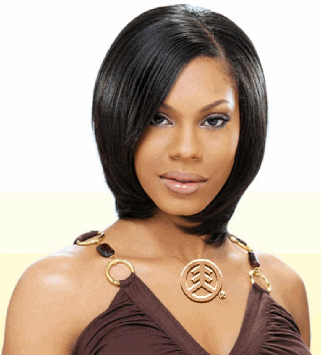 Pictures of Black Women Short Hairstyles with Weave