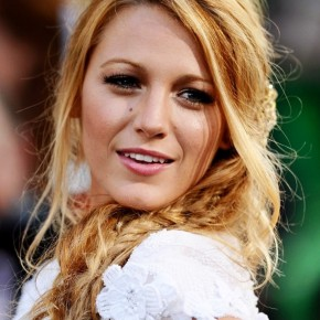 Blake Lively Messy Braided Hairstyle1