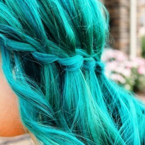Blue Waterfall Braid Hairstyle