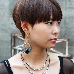 Boyish Short Haircut With Blunt Bangs