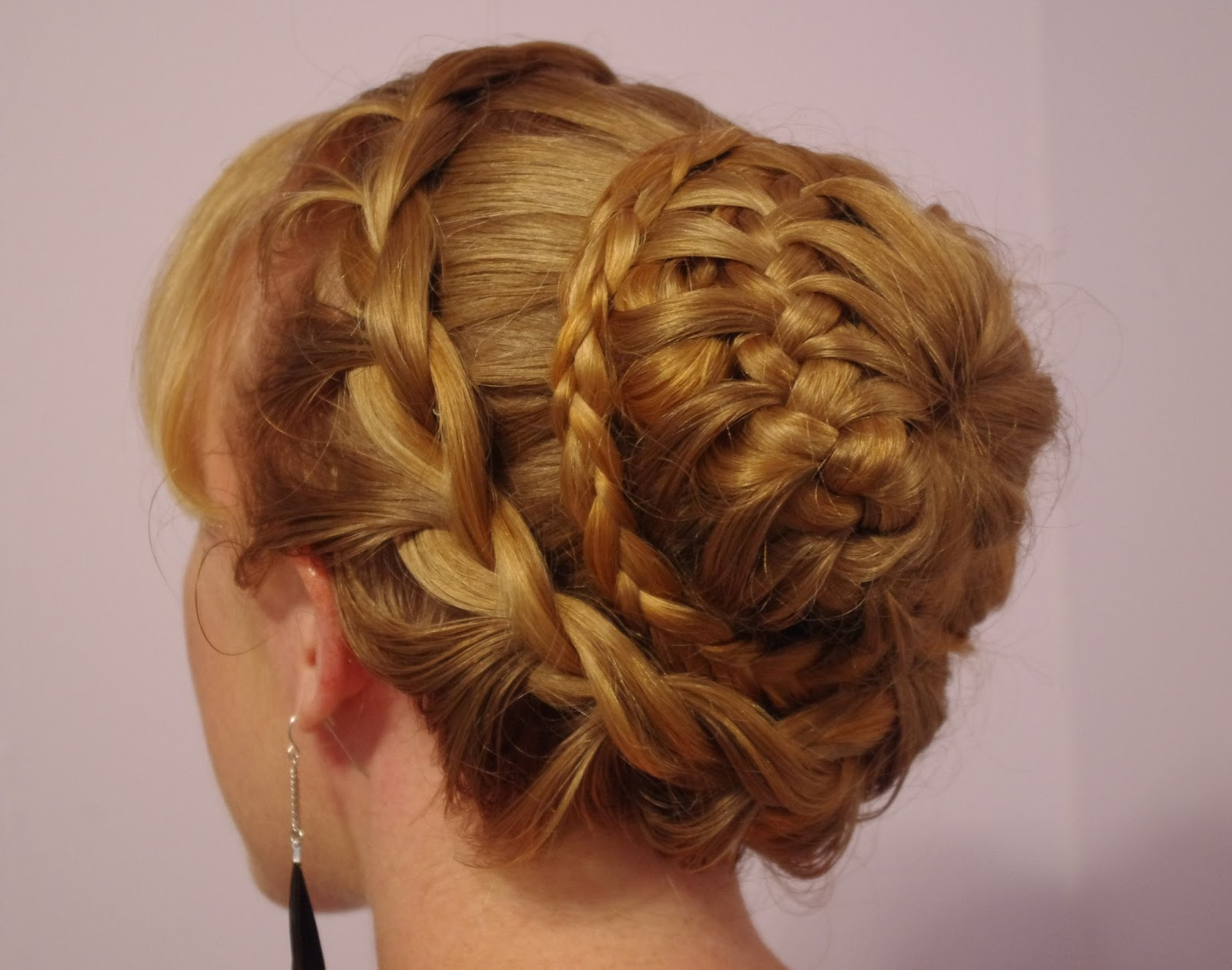 Pictures Of Braided Hairstyles Bun