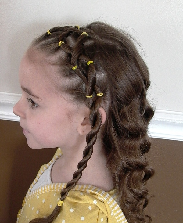 Awe Inspiring Braided Hairstyles For Kids With Curly Hair Behairstyles Com Hairstyles For Women Draintrainus