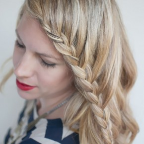Braided Hairstyles With Bangs Down