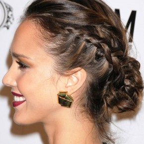 Braided Bun Updo Hairstyle