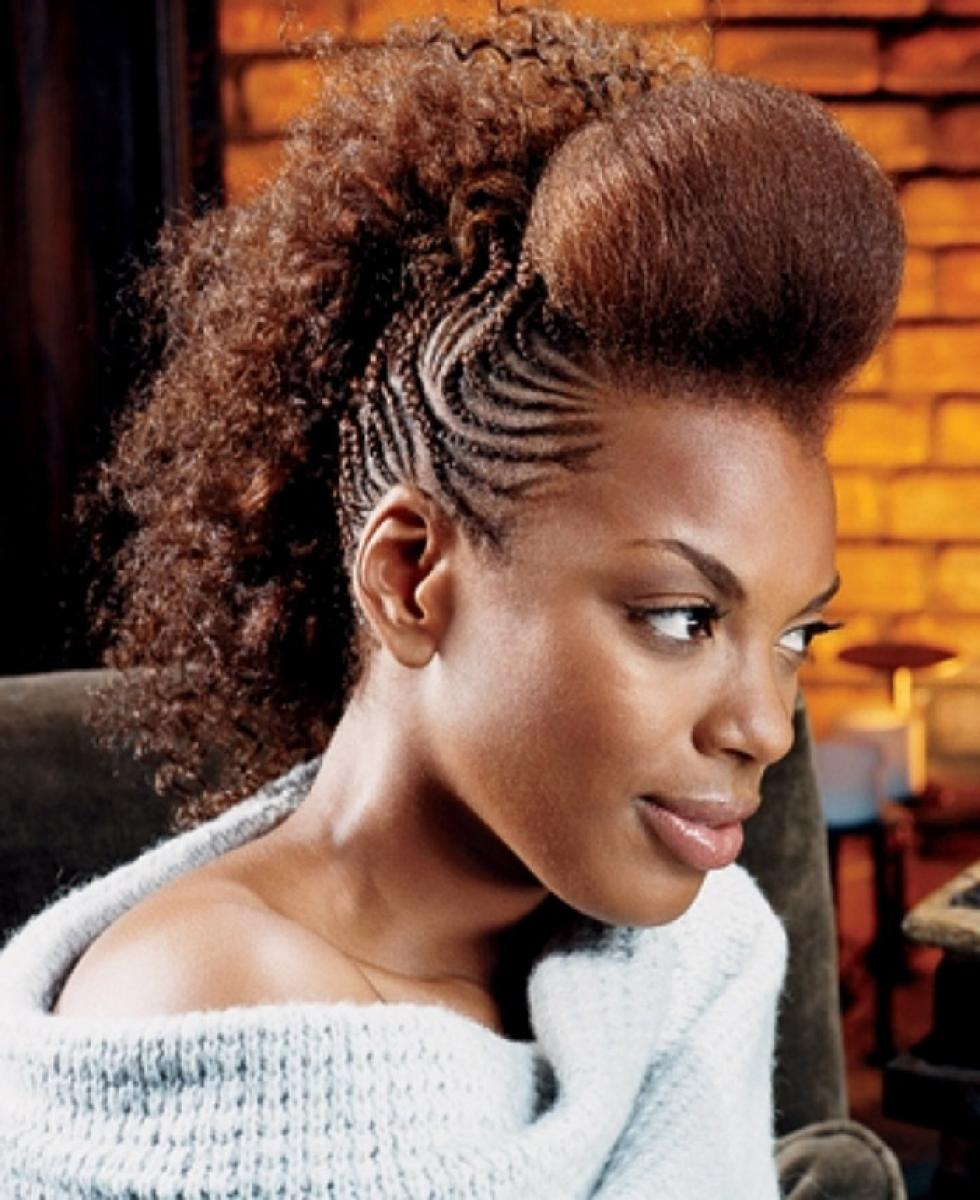 Pictures of Braided Mohawk Hairstyles for Black Women