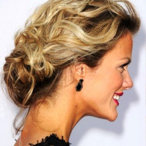 Brooklyn Decker Low Loose Bun Updo