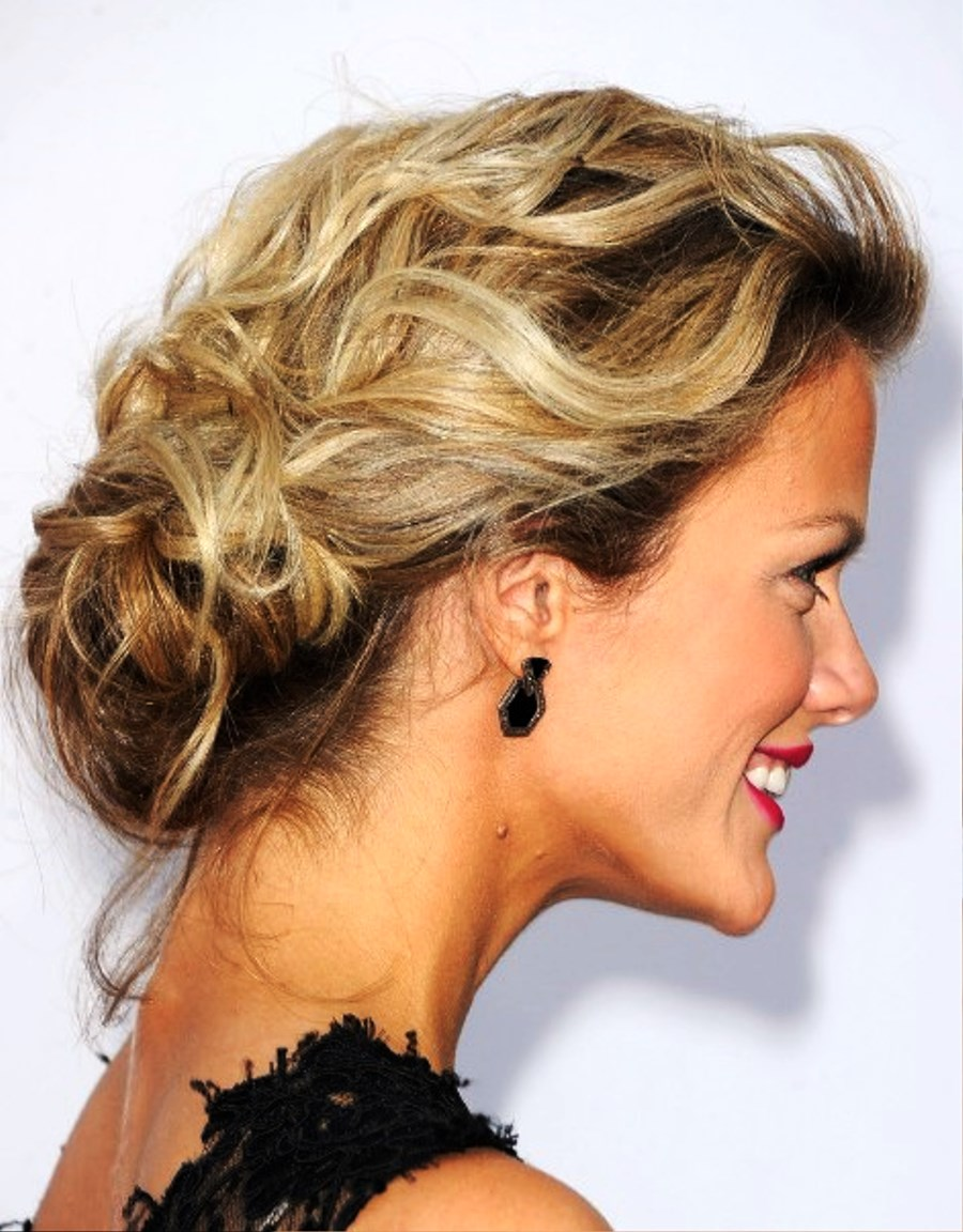 Fabulous Pictures Of Brooklyn Decker Low Loose Bun Updo Hairstyles For Women Draintrainus