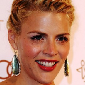 Busy Philipps French Braided Updo