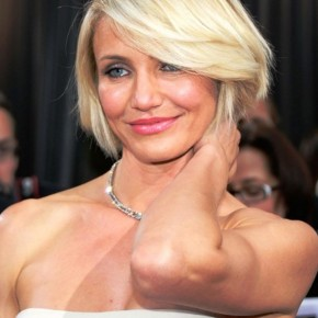 Cameron Diaz Blonde Bob Cut