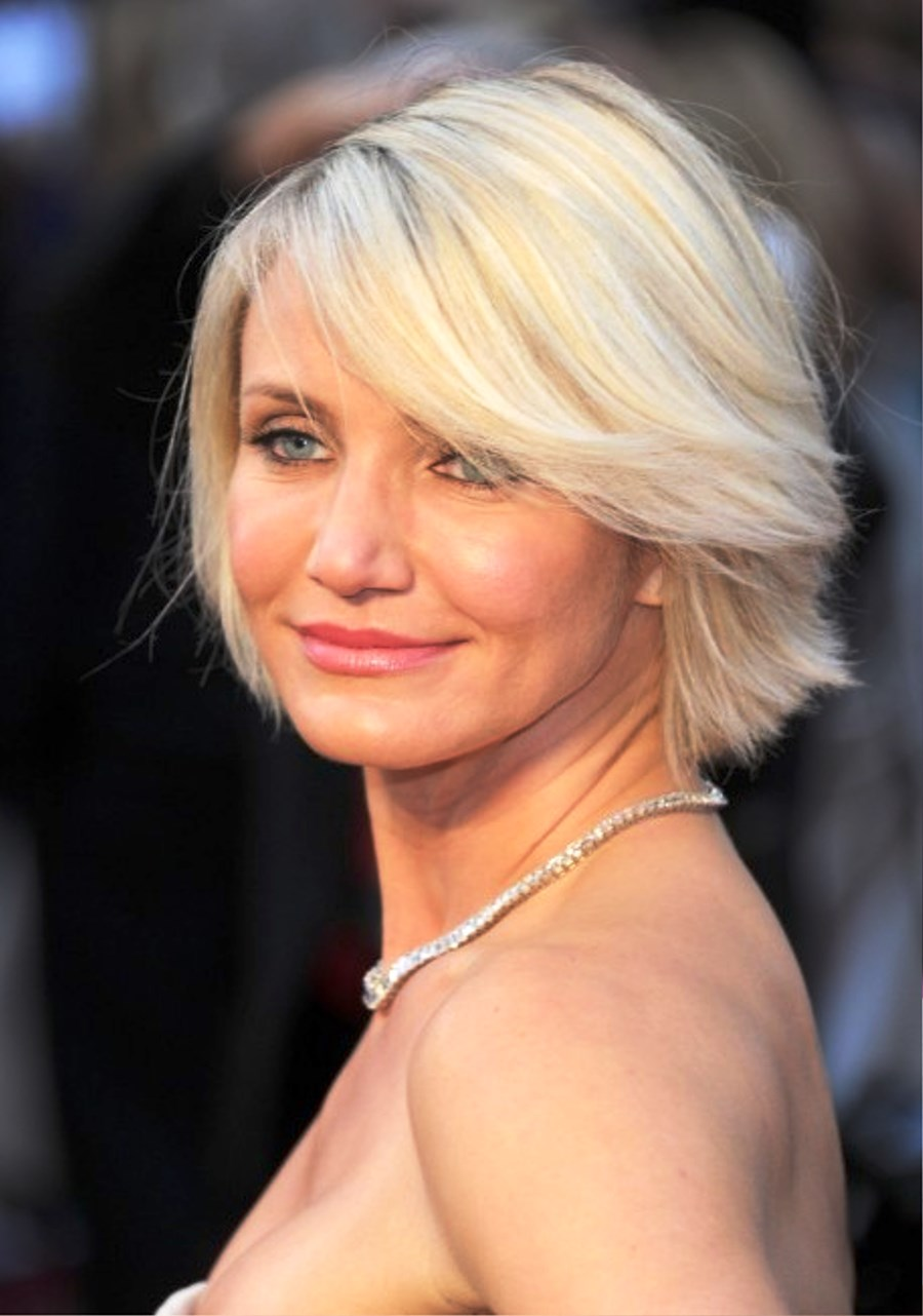 Cameron Diaz Short Blonde Bob Hairstyle Pictures