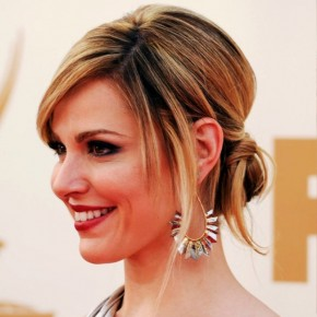 Cara Buono Twisted Sleek Updo Hairstyle For Prom