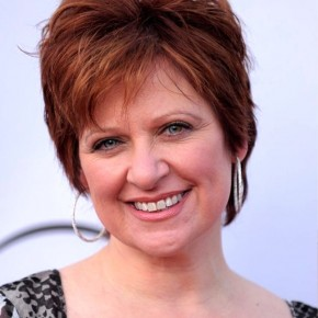Caroline Manzo Layered Short Red Hairstyle