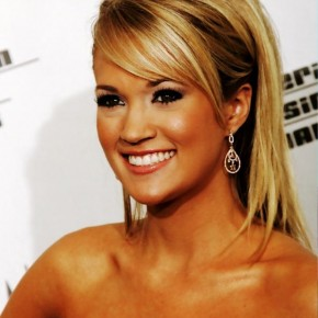 Carrie Underwood Long Sleek Hairstyles