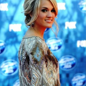 Carrie Underwood Messy Updo