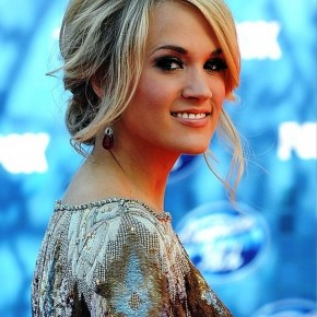 Carrie Underwood Messy Updo Hairstyles